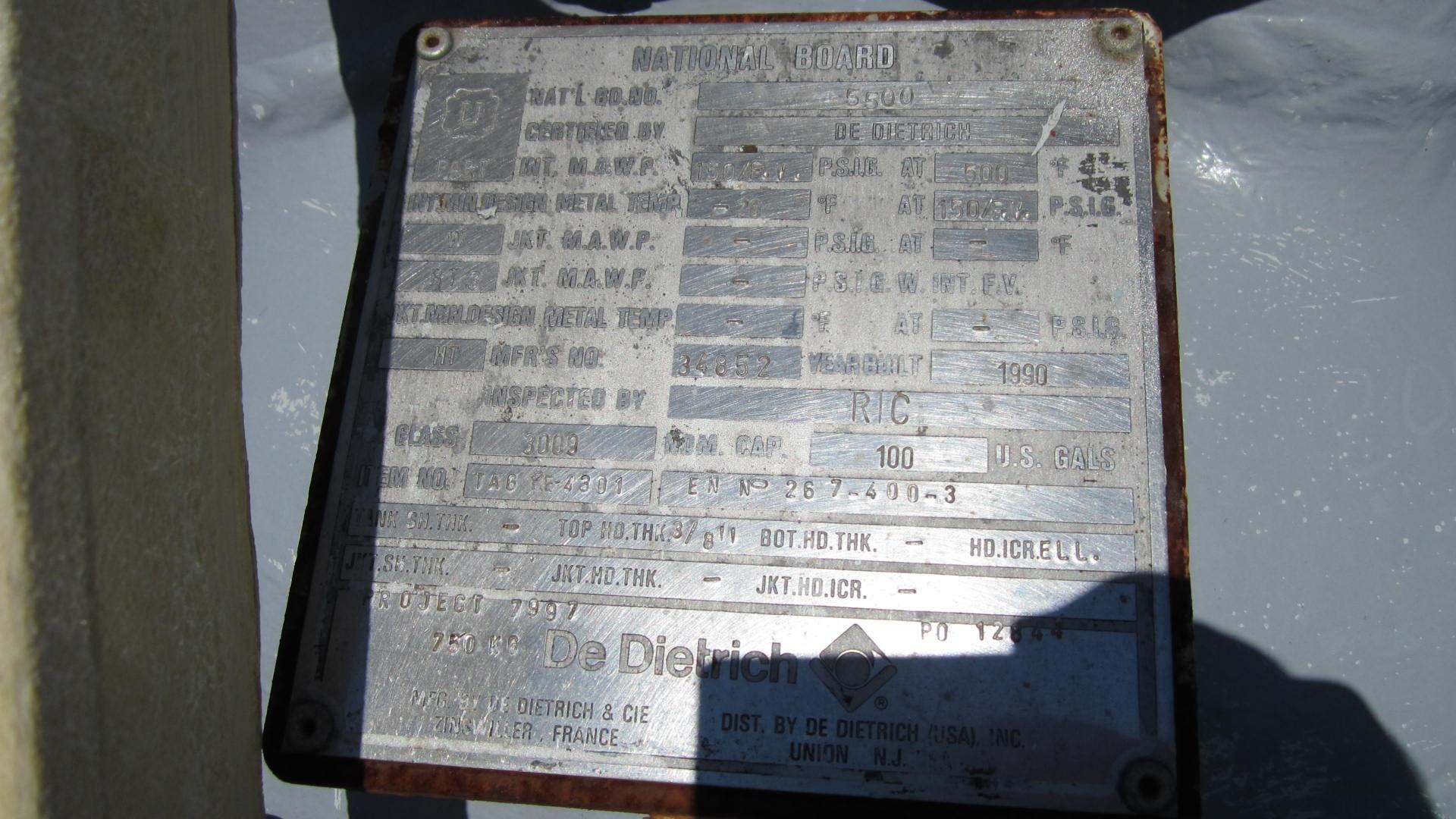 De Dietrich Glass Lined Reactors