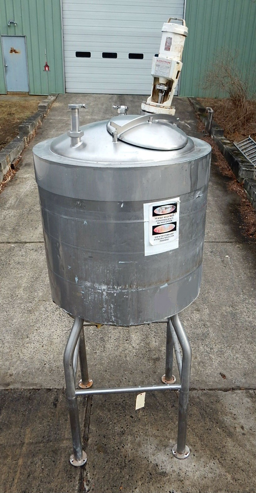 Tri Mix Tank : Gal unknown stainless steel tank  new used