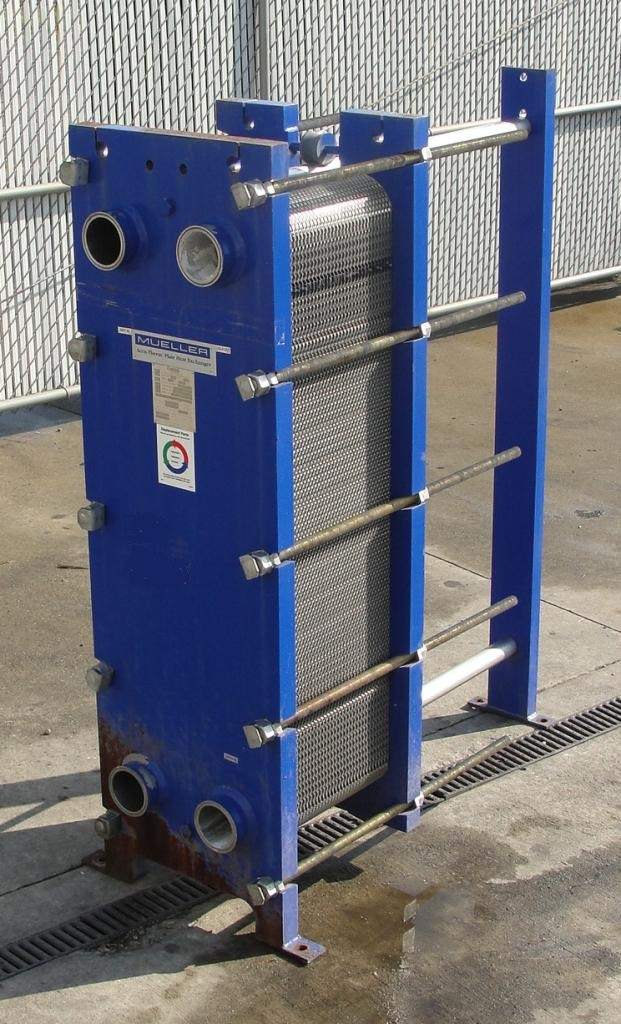 346 5 Sq Ft Mueller Stainless Steel Plate Heat Exchanger