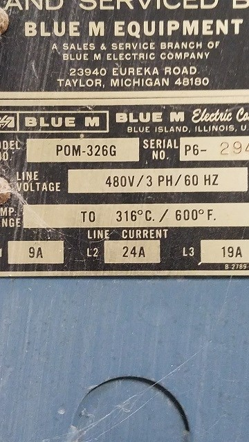 80 Sq Ft Blue M Electric Oven