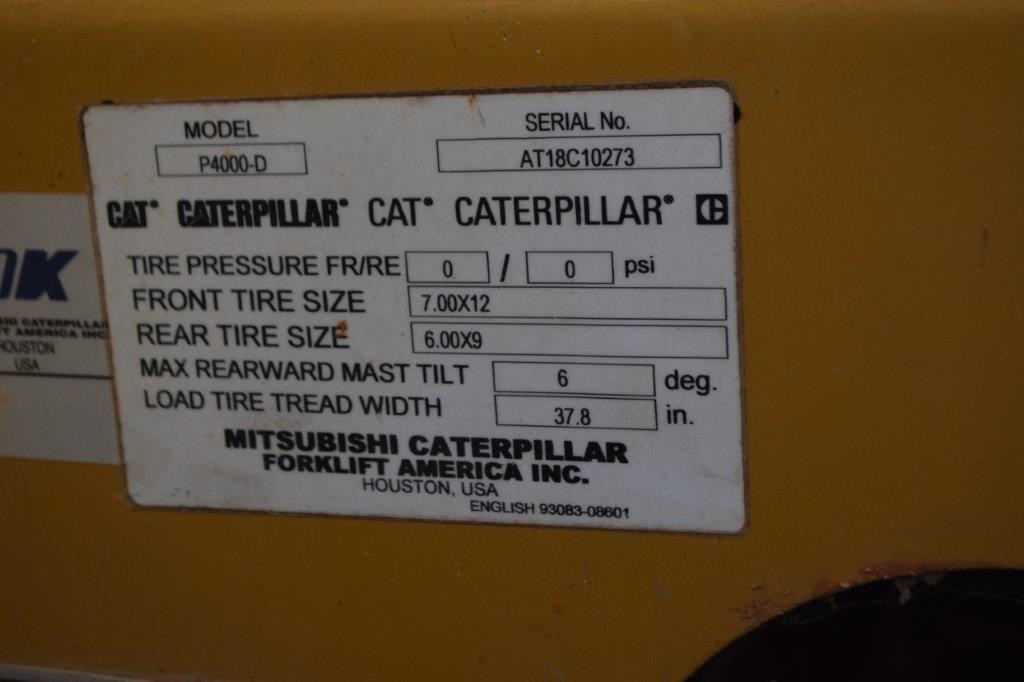 Caterpillar P400-D Forklift | 14123 | New Used and Surplus