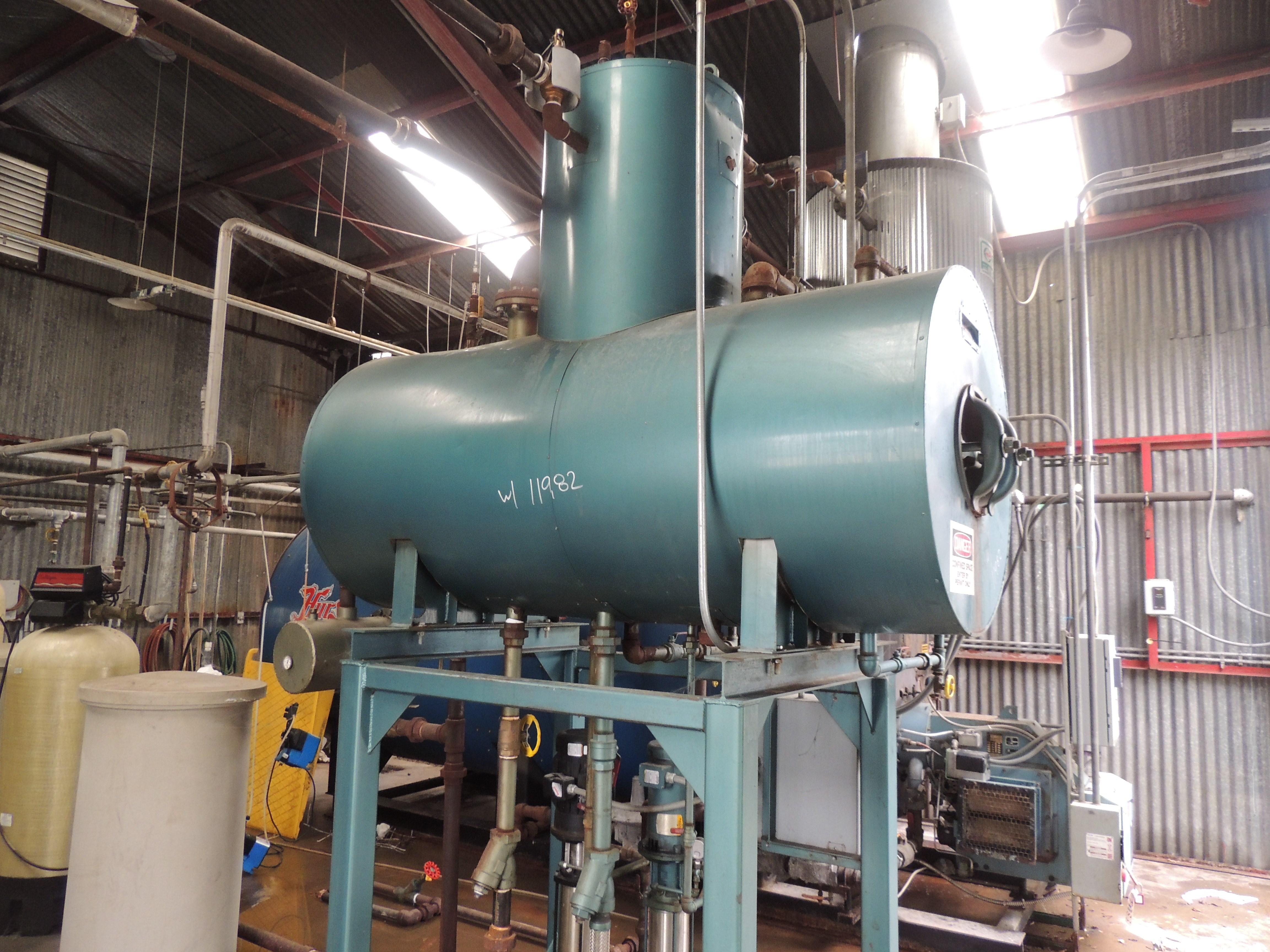 8625 LBS/HR Hurst Firetube Boiler | 11982 | New Used and Surplus ...