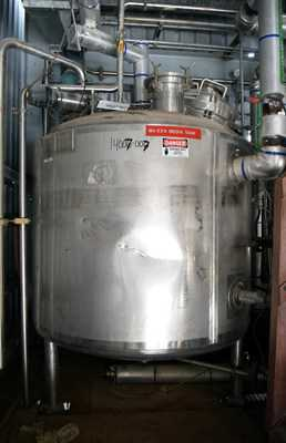 300 Gal Northland Stainless  Stainless Steel Reactor