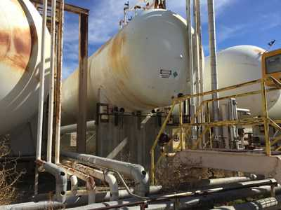 58750 Gal Hudson Engineering Corp. Horizontal Carbon Steel Pressure Vessel