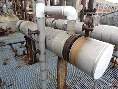 80 Sq Ft Manning & Lewis Carbon Steel Shell & Tube Heat Exchanger
