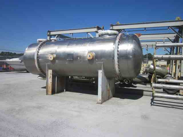8828 Sq Ft Praj Industries Stainless Steel Shell & Tube Heat Exchanger
