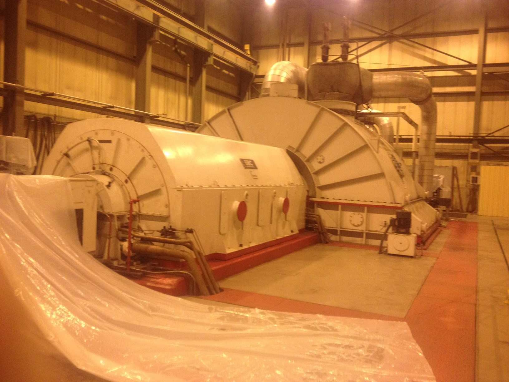 bbc steam turbine generator 113mw 2883
