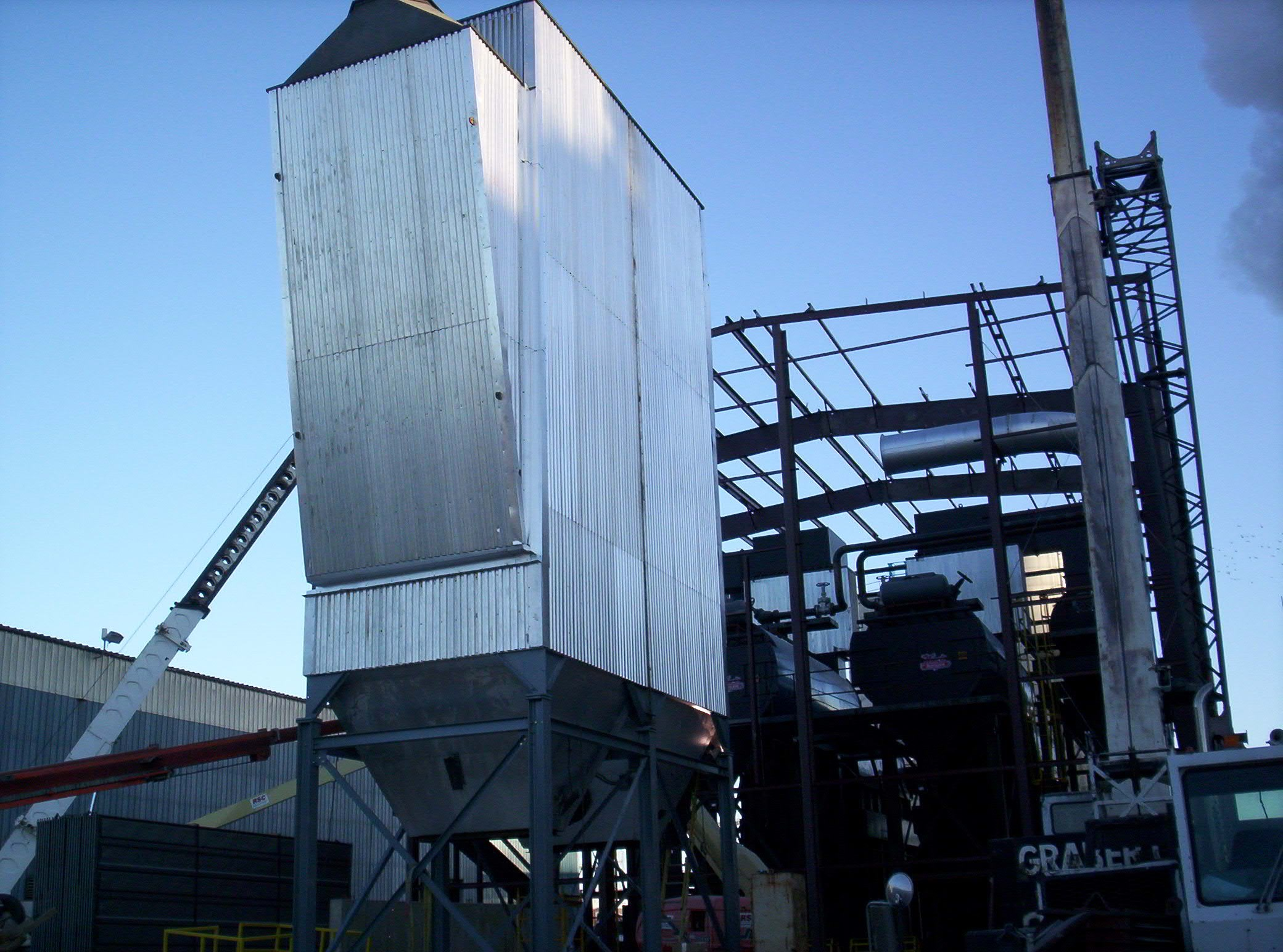89700 PPH Dry Wood Fired Hurst Boiler Steam Plant